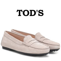 TOD'S Round Toe Plain Loafer Pumps & Mules