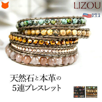 Casual Style Leather Silver Bracelets