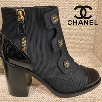 CHANEL Chunky Heels Ankle & Booties Boots