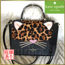 kate spade new york Leopard Patterns 2WAY Leather Shoulder Bags