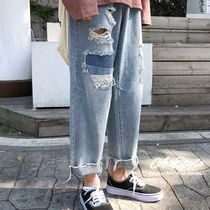 Denim Street Style Plain Jeans & Denim