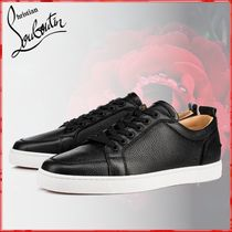 Christian Louboutin Unisex Street Style Plain Leather Loafers & Slip-ons