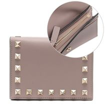 VALENTINO Plain Leather Folding Wallets