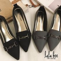 Rubber Sole Casual Style Plain Slip-On Shoes