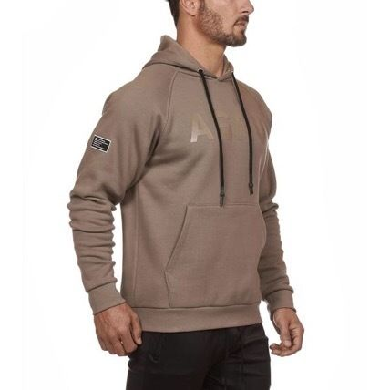 Camouflage Long Sleeves Logo Workout Hoodies