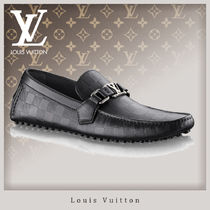 Louis Vuitton DAMIER INFINI Driving Shoes Leather Loafers & Slip-ons