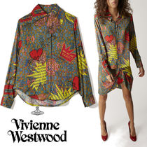 Vivienne Westwood Casual Style Unisex Long Sleeves Cotton Long Oversized