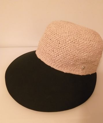 Blended Fabrics Straw Hats