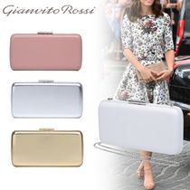Gianvito Rossi Suede 2WAY Plain Elegant Style Clutches