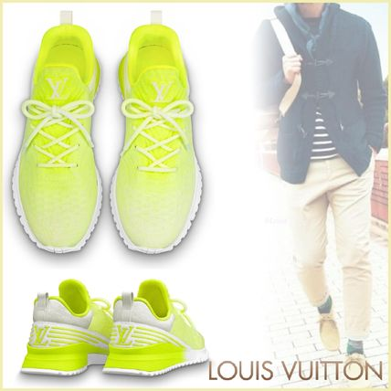 Louis Vuitton Sneakers Other Check Patterns Blended Fabrics Street Style Bi-color