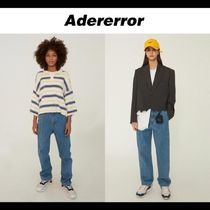 ADERERROR Tapered Pants Unisex Denim Street Style Tapered Pants