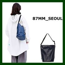 87MM Casual Style Unisex Street Style Plain PVC Clothing Totes
