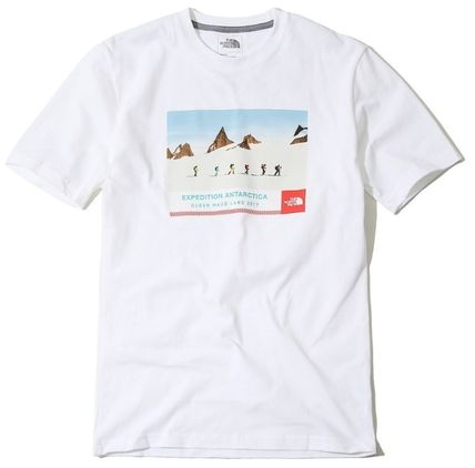 THE NORTH FACE More T-Shirts Unisex Street Style U-Neck Cotton T-Shirts 9