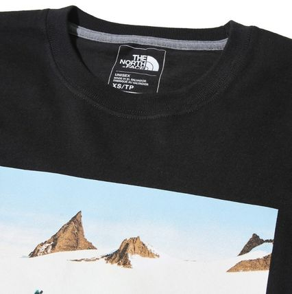 THE NORTH FACE More T-Shirts Unisex Street Style U-Neck Cotton T-Shirts 12