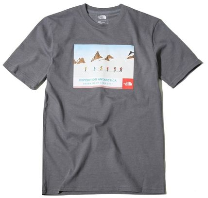 THE NORTH FACE More T-Shirts Unisex Street Style U-Neck Cotton T-Shirts 17