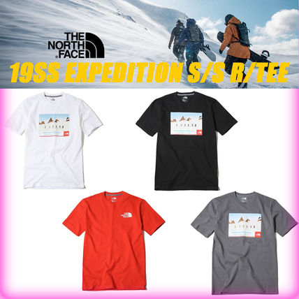 THE NORTH FACE More T-Shirts Unisex Street Style U-Neck Cotton T-Shirts 19