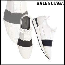 BALENCIAGA Sheepskin Blended Fabrics Plain Loafers & Slip-ons