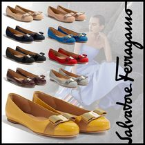 Salvatore Ferragamo Leather Ballet Shoes