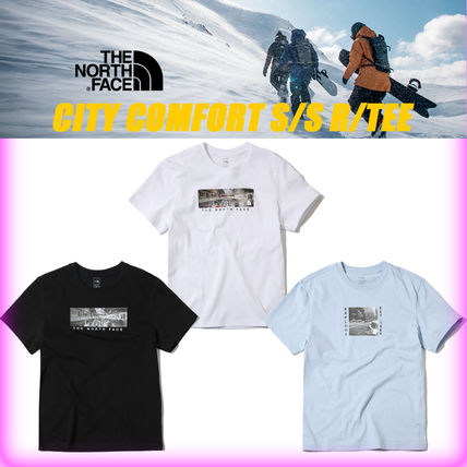 THE NORTH FACE More T-Shirts Unisex Street Style U-Neck Cotton T-Shirts 14