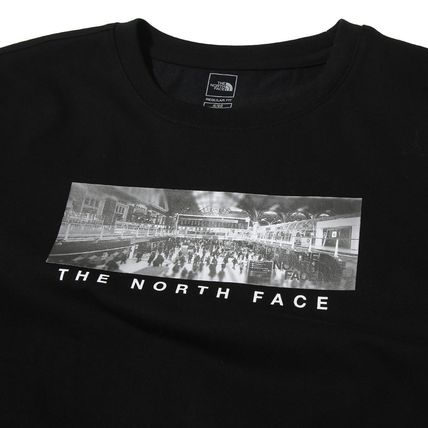 THE NORTH FACE More T-Shirts Unisex Street Style U-Neck Cotton T-Shirts 8