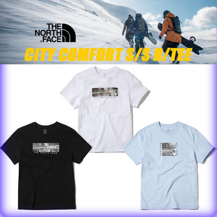THE NORTH FACE More T-Shirts Unisex Street Style U-Neck Cotton T-Shirts
