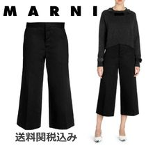 MARNI Blended Fabrics Plain Cotton Elegant Style
