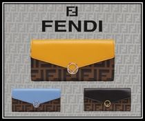 FENDI Street Style Leather Long Wallets