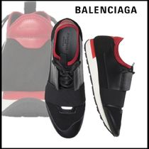 BALENCIAGA Unisex Sheepskin Blended Fabrics Bi-color Loafers & Slip-ons