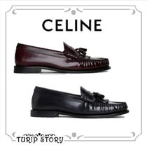 CELINE Loafers Tassel Plain Leather Bold Loafers & Slip-ons