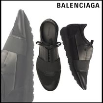 BALENCIAGA Sheepskin Blended Fabrics Plain Sneakers