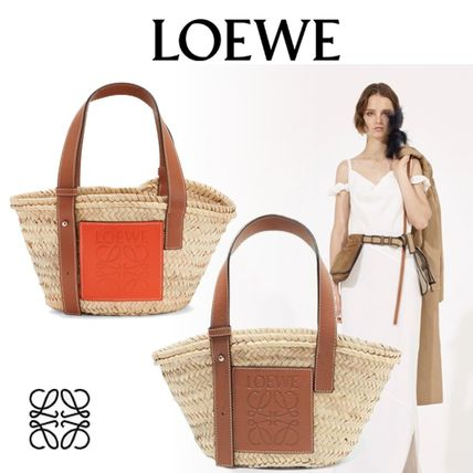 Casual Style Blended Fabrics 2WAY Plain Totes