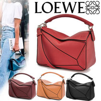 LOEWE PUZZLE Casual Style Calfskin Plain Shoulder Bags