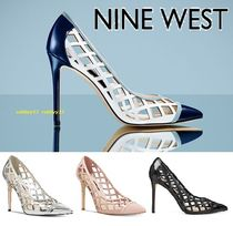 Nine West Plain Elegant Style Pointed Toe Pumps & Mules