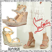 Christian Louboutin Leather Platform & Wedge Sandals