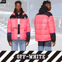 Off-White Short Camouflage Handmade Down Jackets