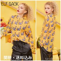 ELF SACK Flower Patterns Casual Style Long Sleeves