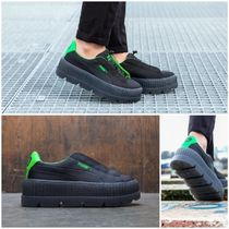 PUMA FENTY Casual Style Collaboration Plain Low-Top Sneakers