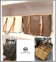 Michael Kors Monogram Saffiano A4 Plain Leather Office Style