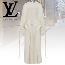 Louis Vuitton Silk Plain Long Dresses