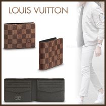 Louis Vuitton DAMIER Monogram Canvas Blended Fabrics Street Style Bi-color