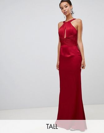 Maxi Sleeveless Halter Neck Long Dresses