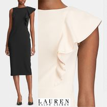 Ralph Lauren Sleeveless Plain Medium Party Style Midi Office Style