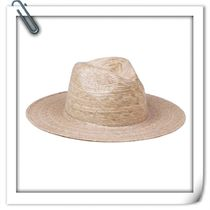 lack of color Unisex Street Style Straw Boaters Straw Hats