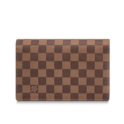 Louis Vuitton Long Wallets Other Check Patterns Canvas Blended Fabrics Bi-color Chain 3