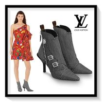 Louis Vuitton Stripes Casual Style Blended Fabrics Pin Heels