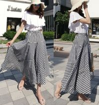 Gingham Maxi Skirts
