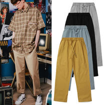 WV PROJECT Unisex Street Style Plain Cotton Pants