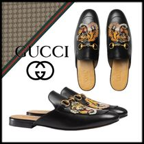GUCCI Plain Other Animal Patterns Leather Shoes