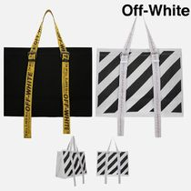 Off-White Casual Style Canvas Totes