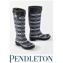 PENDLETON Rubber Sole Mid Heel Boots